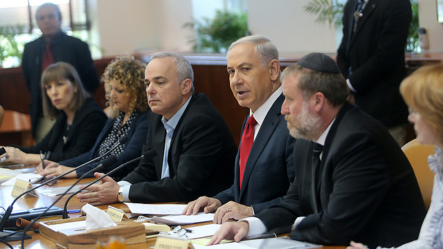 Netanyahu and his ministers. 'Israel is using security as a fig leaf.' (Photo: Alex Kolomoisky)