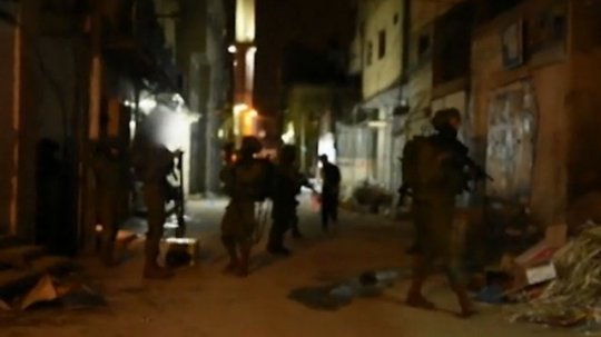 IDF troops operating in a West Bank refugee camp. The Palestinian Authority is absent in the camps. (Photo: IDF Spokesman)