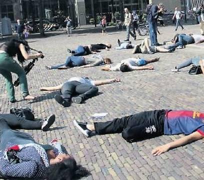 BDS-Demonstranten in den Niederlanden. Die Boykottbewegung will nicht wirklich Frieden