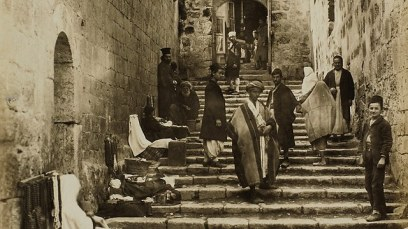 Stairs in the Old City of Jerusalem (Photo: Bonfils/SWNS.com)