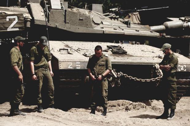 Минута молчания на границе с сектором Газы. Фото: Рои Идан
