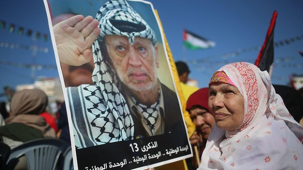 Митинг в Газе в память об Арафате, 2017 год. Фото: AFP