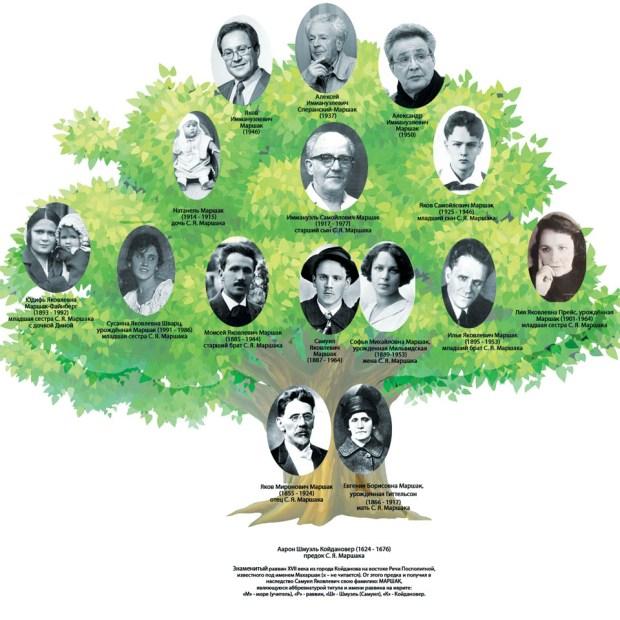 Генеалогическое дерево семьи Маршак