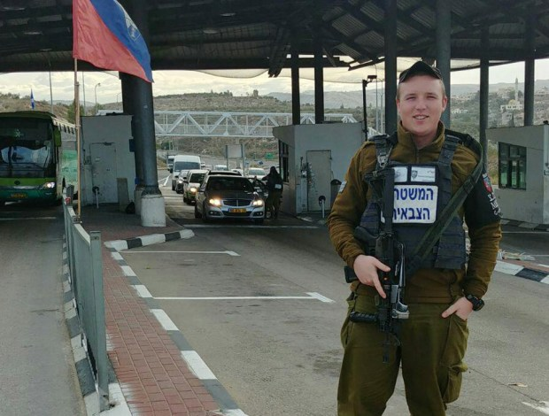 Эдуард Гурвиц на боевом посту. Фото: пресс-служба армии