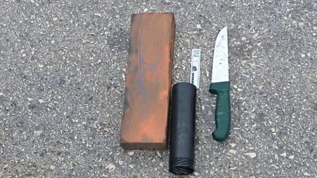 Оружие нейтрализованных террористов. Photo: Keren Perlman/TPS (Photo: Keren Perlman/TPS)