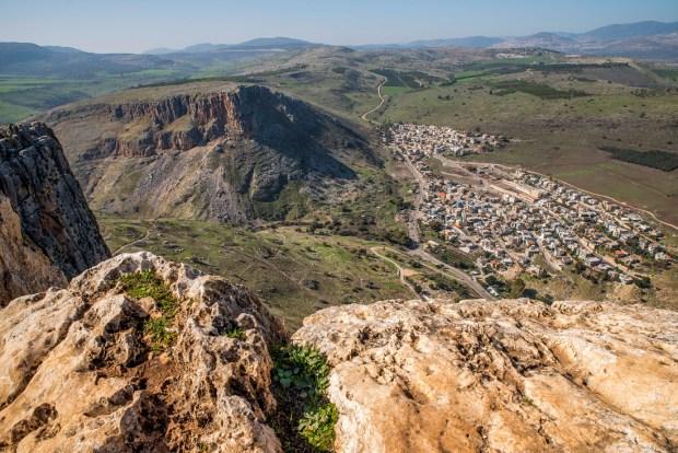 Вид на гору Тавор, который открывается с горы Арбель