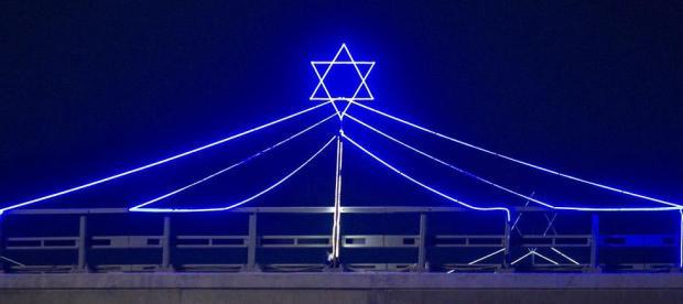 Иллюминация в Хайфе. Фото: Идо Эрез
