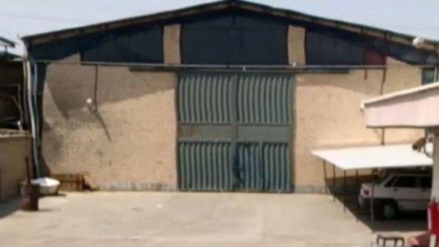 Вход в секретный бункер, где хранилось досье