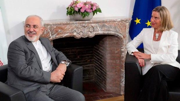 Федерика Могерини и Мухаммед Джавад Зариф. Фото: AFP (Photo: AFP)