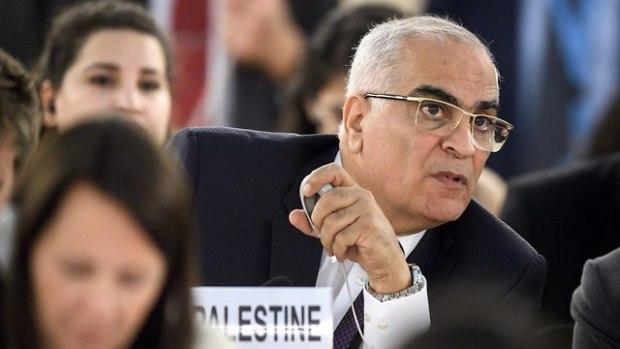 Ибрагим Хариси - представитель Палестинской автономи  в Совете ООН по правам человека. Фото: AFP