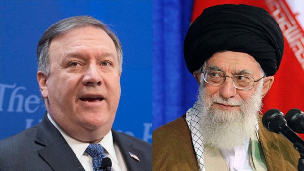 Госсекретарь США Майк Помпео и духовный лидер Ирана аятолла Али Хаменеи. Фото: EPA, MCT (Photo: EPA, MCT)