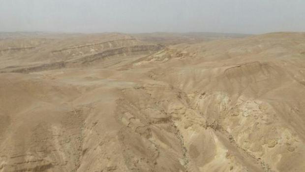 Район поисков. Фото: спасательный отряд района Хар ха-Негев