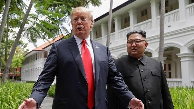 Дональд  Трамп и Ким Чен Ын. Фото: AP