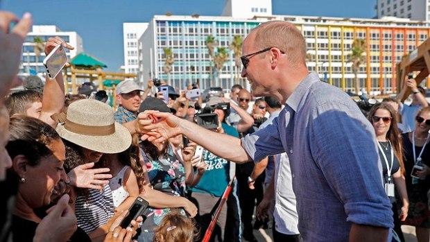 Принц Уильям на пляже Фришман в Тель-Авиве. Фото: AFP (Photo: AFP)