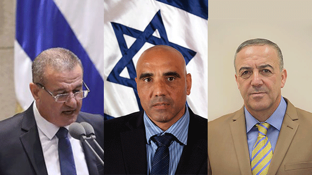 MKs Akram Hasson, Salah Sa'ad Hamad Amar (Yossi Zamir, Knesset Spokesperson)