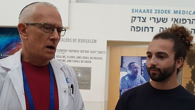 Yuval Maskin, qui a contracté la leptospirose (Photo: Yishai Porat)
