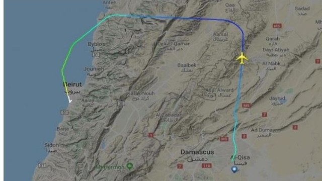 Fars Air Qeshm's alleged smuggling route