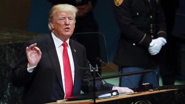 Дональд Трамп выступает в ООН. Фото: ЕРА (Photo: EPA)