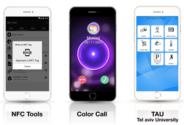 Приложения NFC Tools, Color Call и TAU