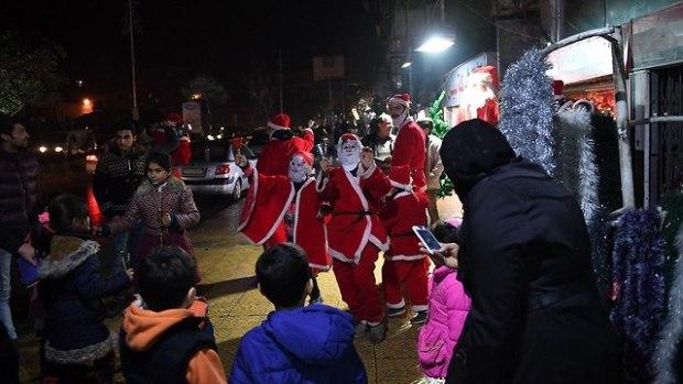 Новый год в Алеппо. Фото:AFP