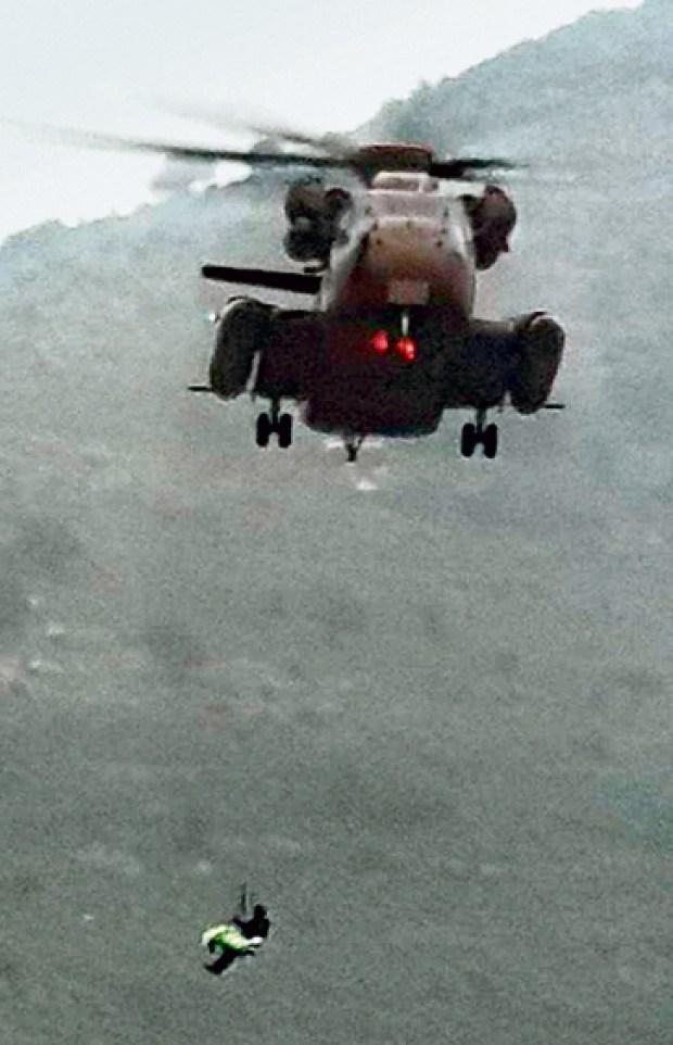 Спасательная операция по эвакуации Эвьятара с места происшествия