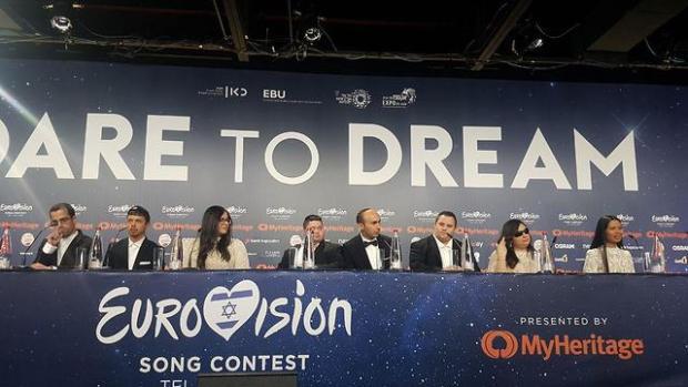 Группа на пресс-конференции. Фото: Итай Блюменталь