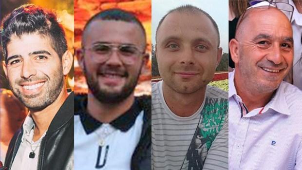 Все четверо погибших в трагедии в Явне - Дикло, Сабаг, Семенов и Хазази