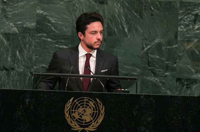 L'héritier actuel du trône, le prince Hussein, prend la parole à l'ONU.