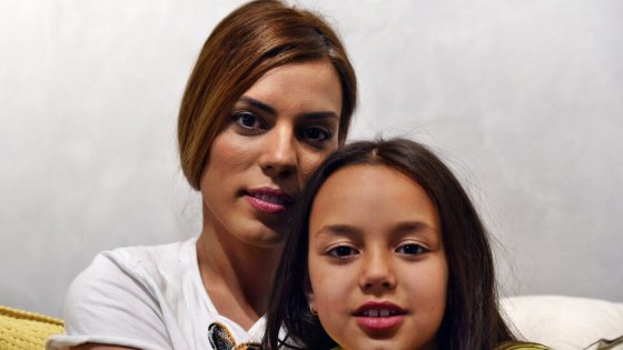 Michal and Aline Wichman, the widow and daughter of Gadi Wichman