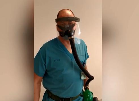 """Маска с насосом. Фото: д-р Карниэль, больница """"Меир"""""""