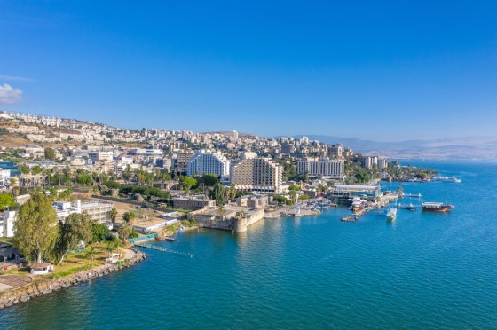 Hotels on the shores of the Sea of Galilee