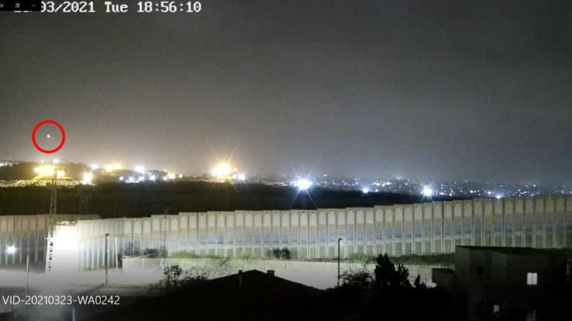 Documentation du moment où la roquette a été tirée sur Be'er Sheva