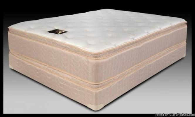 New Queen Orthopedic Double Pillow Top 18 5 Inch Mattress With 8 Boxspring Price