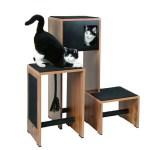 Haustier Angebot: Kerbl Kratzmöbel Ambiente 96 x 87 x 100cm – Holzdekor/Schwarz