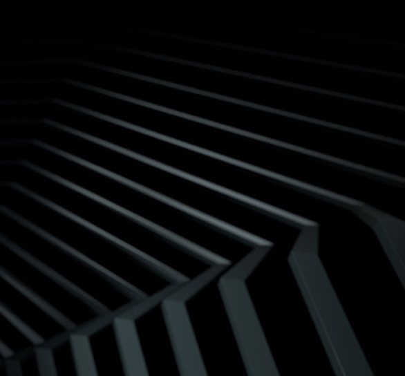 Black and gray ridges