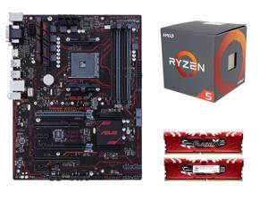 RYZEN 5 Upgrade Combo: AMD RYZEN 5 1600 6-Core 3.2 GHz, ASUS PRIME B350-PLUS AM4 AMD B350, G.SKILL Flare X Series 16GB (2 ...