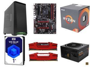 AMD RYZEN 5 1500X 3.5 GHz, GIGABYTE GA-AB350-Gaming ATX, G.SKILL Ripjaws V Series 16GB, WD Blue 1TB HDD, Phanteks Eclipse ...