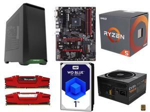 AMD RYZEN 5 1400 4-Core 3.2 GHz CPU, GIGABYTE GA-AB350-Gaming AMD B350 MB, G.SKILL Ripjaws V Series 16GB DDR4 2400, WD Blue ...