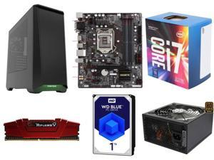 Intel Core i7-7700 Kaby Lake Quad-Core 3.6 GHz, GIGABYTE GA-B250M-DS3H (rev. 1.0) B250 MB, G.SKILL Ripjaws V Series 8GB DDR4 ...