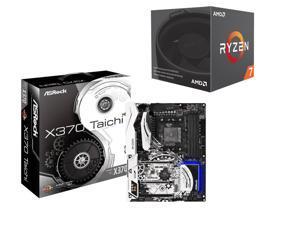 ASRock X370 Taichi AM4 AMD Promontory X370 SATA 6Gb/s USB 3.1 USB 3.0 ATX AMD Motherboard, AMD RYZEN 7 1700 8-Core 3.0 GHz ...
