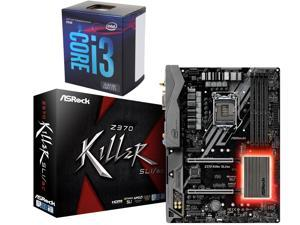 Intel Core i3-8100 3.6 GHz LGA 1151 (300 Series) BX80684I38100 Desktop Processor, ASRock Z370 Killer SLI/ac LGA 1151 (300 ...