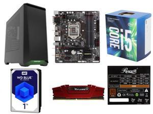 Intel Core i5-7600 Kaby Lake Quad-Core 3.5 GHz, GIGABYTE GA-B250M-DS3H (rev. 1.0) B250 MB, G.SKILL Ripjaws V Series 8GB DDR4 ...