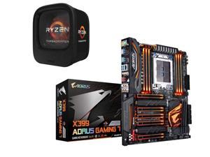 AMD RYZEN Threadripper 1900X 8-Core / 16 Threads 3.8 GHz Socket sTR4 180W YD190XA8AEWOF Desktop Processor, GIGABYTE X399 ...