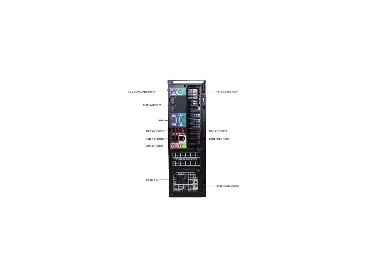 Dell Desktop Computer Optiplex Intel Core I5 4th Gen