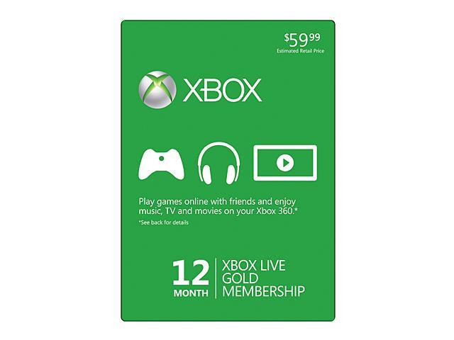 Microsoft Xbox LIVE 12 Month Gold Membership Card To Play
