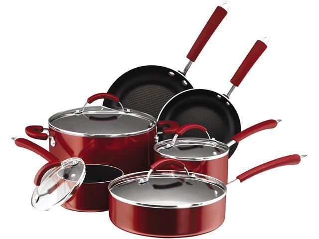 Farberware Millennium Cookware 10 Piece Set Red