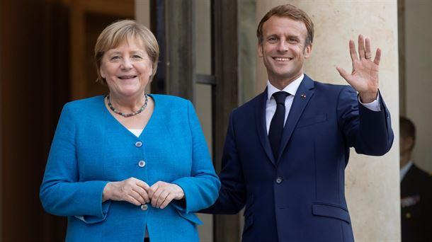Merkel y Macrón