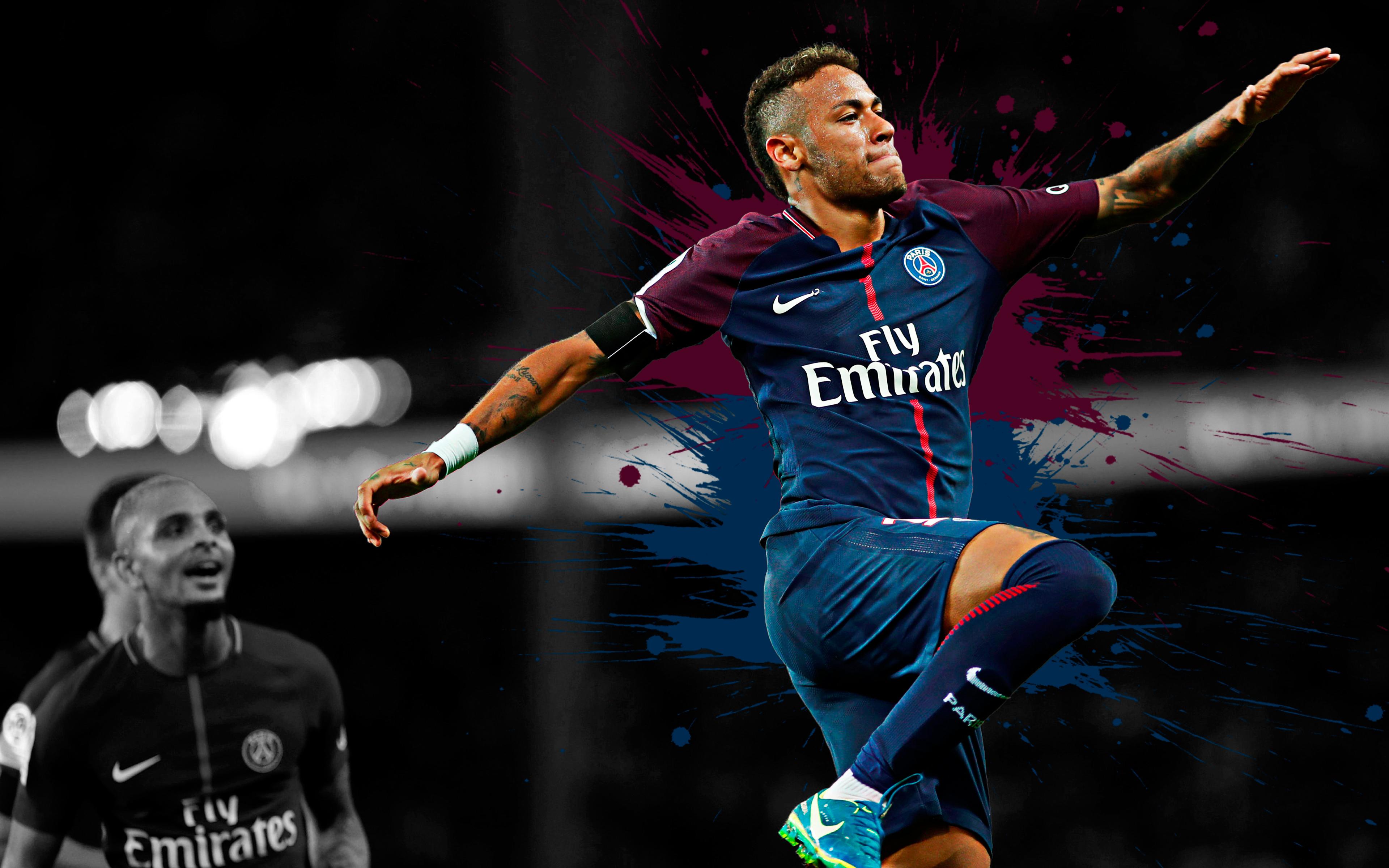 neymar jr psg 4k ultra hd wallpaper