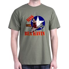 Miss Behavin on a T-shirt