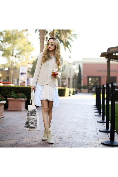 Beige Vs Neck Zara Sweaters Neutral Ankle Boots Buttero